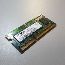 Genuine Elpida 1GB 2Rx16 PC3 PC8500S DDR3 SODIMM RAM EBJ11UE6BAU0-AE-E 1066Mhz