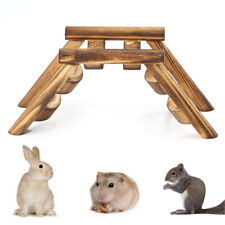 Pet Hamster Mouse Bird Wooden Bridge Climbing Ladder Exercise Game Stairs Toys