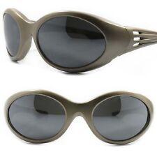 3c19abacab00 Classic True Vintage Old School Hippie Gray Wrap Around Sporty Oval  Sunglasses