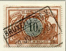 BELGIUM;  RAILWAY PARCEL POST 1902 early issue 10c. fine used value