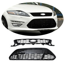 2pcs For Ford Mondeo Fusion 2011 2012 2013 Front Honeycomb ABS Grills Grille
