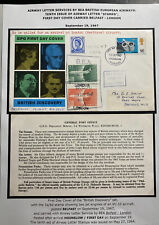 1967 Middlesex England First Day Cover British Discovery Set Trident Flight