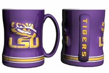 LSU Tigers Coffee Mug - 14oz Sculpted [NEW] NCAA Tea Microwave Cup CDG