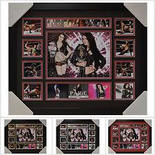 Paige Signed Framed Memorabilia Limited Edition V1 - Multiple Variations