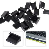 20pcs Black A Female USB Ports Plugs Anti Dust Protector Stopper Cover PC Laptop