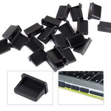 20 un. Negro una hembra puertos USB se conecta Anti Polvo Cubierta Protector Tapón PC Laptop