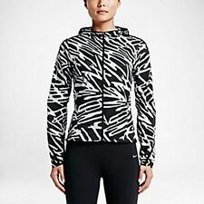 NWT Nike Palm Impossibly Light Women's Running Jacket Blk/Wht 803591-010 $120 M
