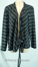 Wrap Stripe Knit Cardigan Size 16 Cosy Winter NWOT