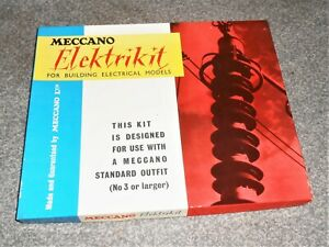 MECCANO 1963 ELEKTRIKIT SET BOXED SET - COMPLETE - EXCELLENT
