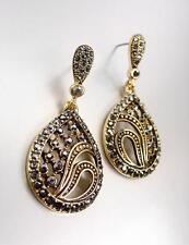 Exquisito 18 quilates chapado en oro Marcasita Cristales Candelabro
