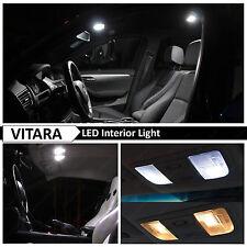 1999-2004 Suzuki Vitara White Interior + License Plate LED Light Package Kit