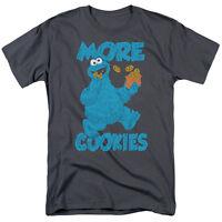 SESAME STREET MORE COOKIES COOKIE MONSTER Adult Men's Graphic Tee Shirt SM-5XL