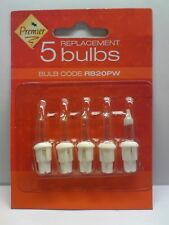 RB20PW Premier Spare Christmas Light Bulbs, Pack of 5, LUS-11, 12 volt