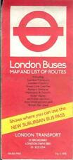 London Transport Buses bus map & list of routes 1978 AEC Routemaster Daimler DMS