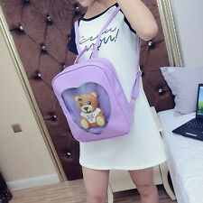 Japan Wego Harajuku Girls Kawaii Bling Transparent Love School Bag Backpack New