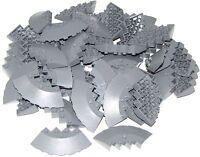 LEGO LOT OF 50 NEW Dark Bluish Gray Bricks Round Corner 6 x 6 with Slope 33 Edge