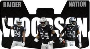 Custom Oakland Raiders Charles Woodson Football Helmet Visor, W/ Unbranded Clips