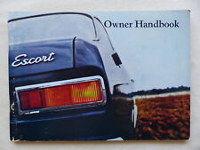 Ford Escort 1300 GT - UK-Betriebsanleitung Owner Handbook 03.1970 England