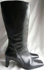 PRINCIPLES SIZE 39 BLACK LEATHER HEELED KNEE HIGH BOOTS FROM PRINCIPLES