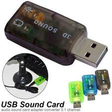 5.1 External USB Audio Sound Card Adapter For PC Notebook Laptop W1B6
