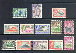 SOLOMEN ISLANDS SG 60-72 1939 GVI DEFINITIVE SET OF 13 M/M