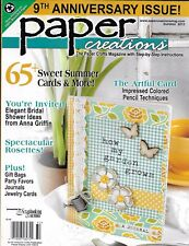 Paper Creations magazine Summer card projects Impressed color pencil techniques