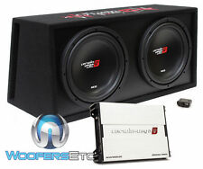 "CERWIN VEGA BKX7212V 3000W CAR 12"" SUBWOOFERS SPEAKERS + BOX + BASS AMPLIFIER"