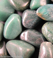 *ONE* Tumbled Stone GREEN QUARTZ Chunky 30mm QTY1 Healing Crystal Reiki Heart
