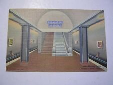 Moving Stairs Chicago's Initial Subways Escalators Postally used 1946 Post Card