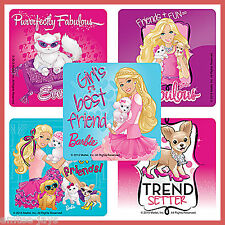 Barbie Stickers x 5 - Barbie Pets - Sparkle and Shine - Pink Love - Make Believe