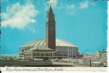 Vintage Postcard - King Street Station and King Dome Seattle, WA 1977 Unposted