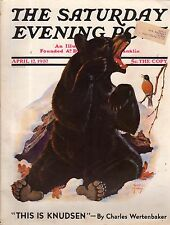 1937 Saturday Evening Post April 17-Bear; Knudsen; Marquand; Supreme Court works