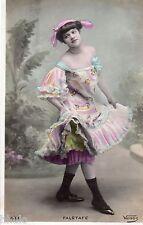 BE357 Carte Photo vintage card RPPC Femme woman Falstafe Venus mode robe dress