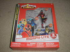 Saban's Power Rangers Samurai Morph-Lite Red Mega Mode Blue Samurai Gold Samurai