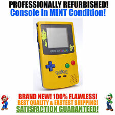 *NEW SCREEN* Nintendo Game Boy Color GBC Pikachu Pokemon Limited Edition System