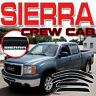 2007-2013 Sierra Crew Cab Window Deflectors Rain Visors Sun Vent Shade with Logo