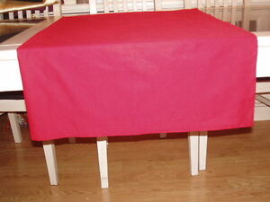 RED COTTON BLEND, RECTANGULAR TABLE CLOTH