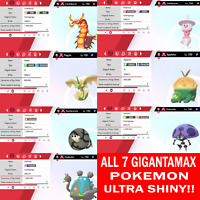{ALL 7} Pokemon Sword & Shield Ultra Shiny 6IV Gigantamax Bundle Fapple