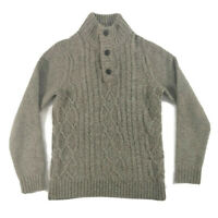"""Fat Face Size M Beige Brown Chunky Cable Knit Wool Blend Mens Jumper 42"""""""