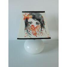 lampe de chevet creacat femme poissons peint main