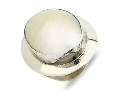 Women's Large MOP Cocktail Ring in .925 SOLID Sterling Silver