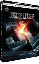 Justice League (4K Uhd + 3D/2D Blu-ray Ultimate Steelbook) + Bonus Art Cards