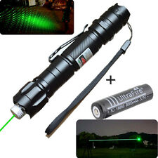 10 miles Powerful 1mw Green Laser Pointer Pen Light 532nm Visible Beam+ Battery