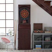 Arcade Electronic Dart Board in Cabinet 39 Games and 179 Options 3 Level Heckler