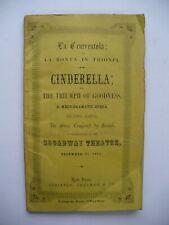 RARE 1852 BROADWAY THEATRE MARIETTA ALBONI ROSSINI OPERA PLAYBILL PROGRAM