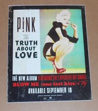 Pink The Truth About Love Large Sticker Poster 2012 Promo 8.5x11