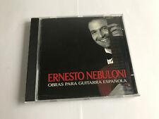 Ernesto Nebuloni – Obras Para Guitarra Española : Gemecs – E.I. 245 CD EX/EX