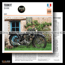 #080.08 TERROT 350 HSSE 1930 Classic Bike Fiche Moto Motorcycle Card