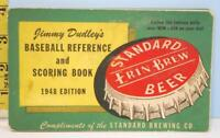 1948 RARE Cleveland Indians Jimmy Dudley's Baseball Score Book Erin Brew Beer