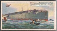 1918 HMS Argus Aircraft Carrier Navy Ship History 90+ Y/O Ad Trade Card